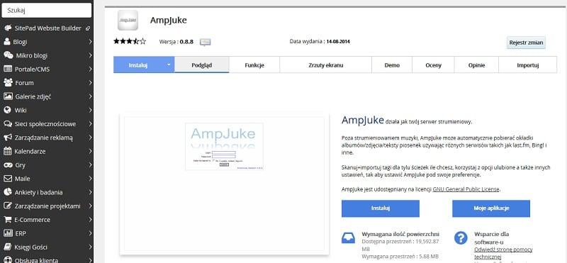 AmpJuke serwer strumieniowy
