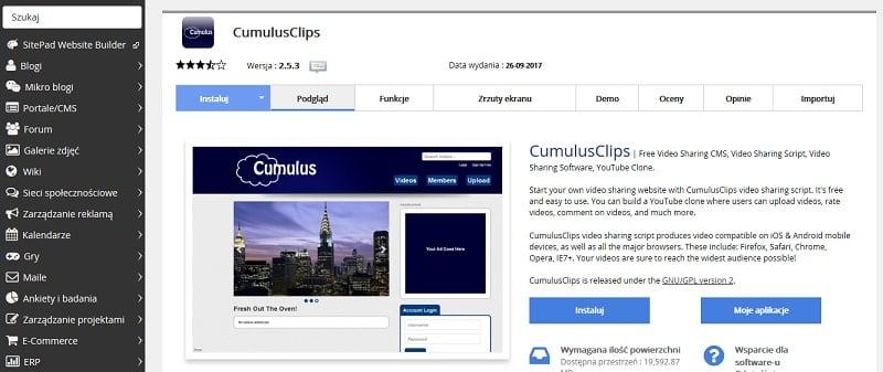CumulusClips udostępnianie wideo