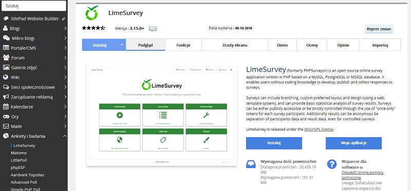 LimeSurvey, PHPSurveyor