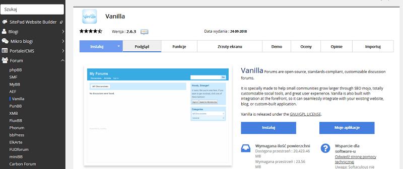 Forum Vanilla