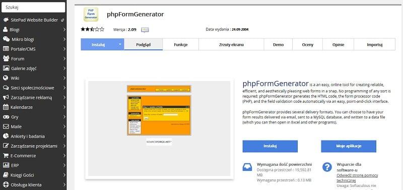 phpFormGenerator